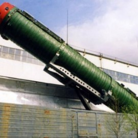 File photo of a rail-mounted nuclear missile