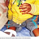 Nursery owner  ties up 'noisy' child