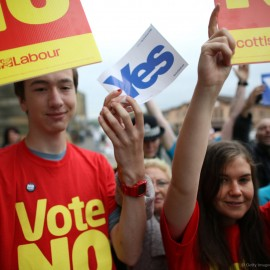 SCOTLAND may vote for independence today in a referendum that could herald the break up of the United Kingdom. - Copy