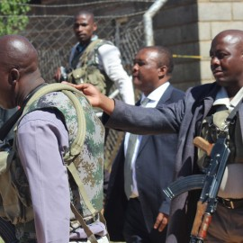 DPM Mothetjoa Metsing at the scene at his body guard's house at Khubetsoana  on Wednesday