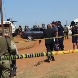 Lesotho soldiers, Lesotho police, SA Police and Namibian surounded the house-of Metsing body guard after shootout Wednesday