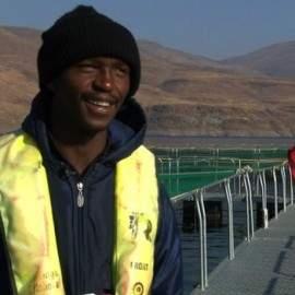 The fish farm has given local people jobs and opportunities to study, says Vincent Sitsane