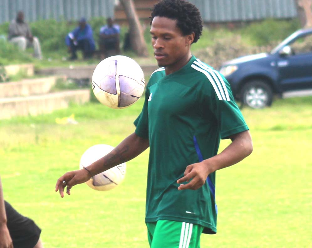 FORMER Linare playmaker Mabuti Potloane during a training session for his new club Matlama at Pitso Ground on Tuesday v