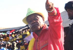 ABC Leader Thom Thabane Addresses the supporters at Ha-Abia during the first rally  after election
