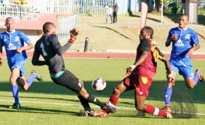 Lioli striker, Ts'epo Lekhooana suffers broken leg after colliding with Matlama goalkeeper, Makhetha Thakeli
