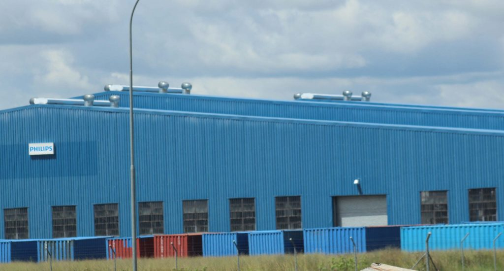 AUTOMOTIVE firm, Johnson Controls, has been using this Tikoe factory since Philips Lighting closed shop last year.