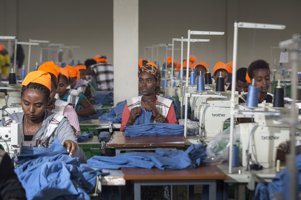 Women at work last year at the Ethiopian-owned GG Super Garment Factory in a rural area outside of Addis Ababa.