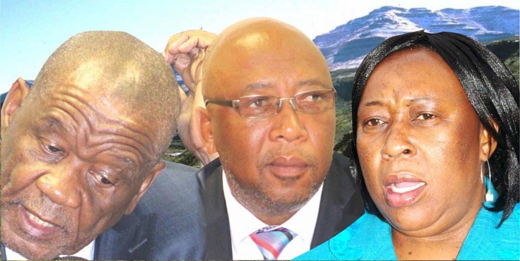 All Basotho Convention (ABC) leader Thomas Thabane,  Basotho National Party (BNP) leader Thesele 'Maseribane and Reformed Congress of Lesotho (RCL) leader Keketso Rantšo