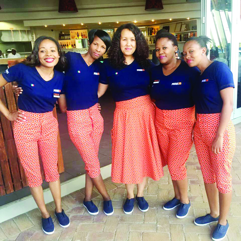 Chef Ima Setipa (centre) with Primi Piatti restaurant staff.