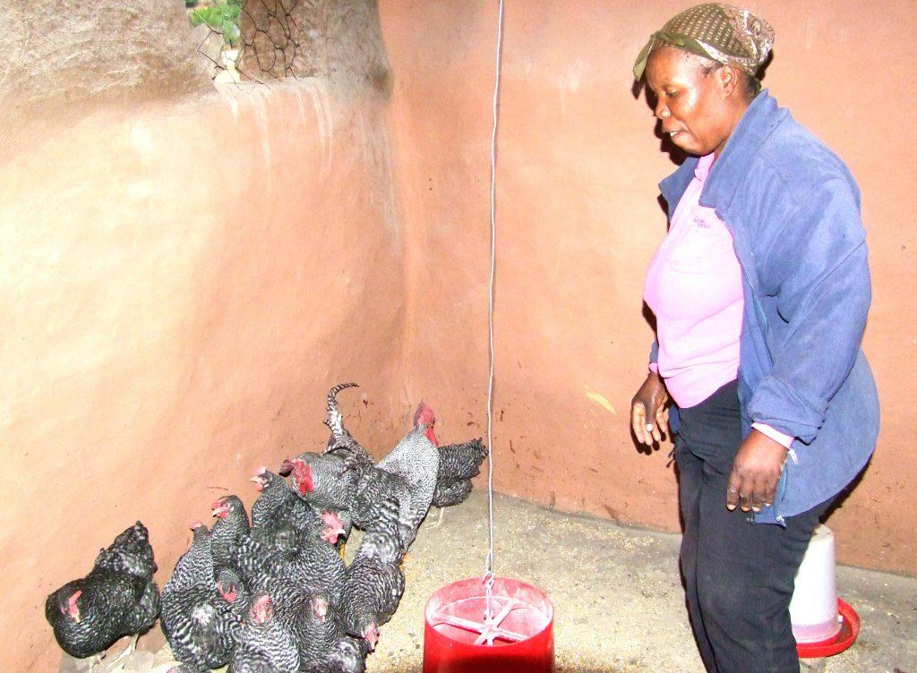 Project beneficiary Mafumane Mokhahlane
