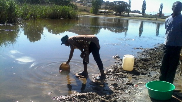 Storm brews in Hlotse as town goes three months without portable water