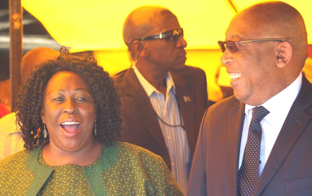 RCL Leader Keketso Rants'o with BNP Leader Thasele 'Maseribane