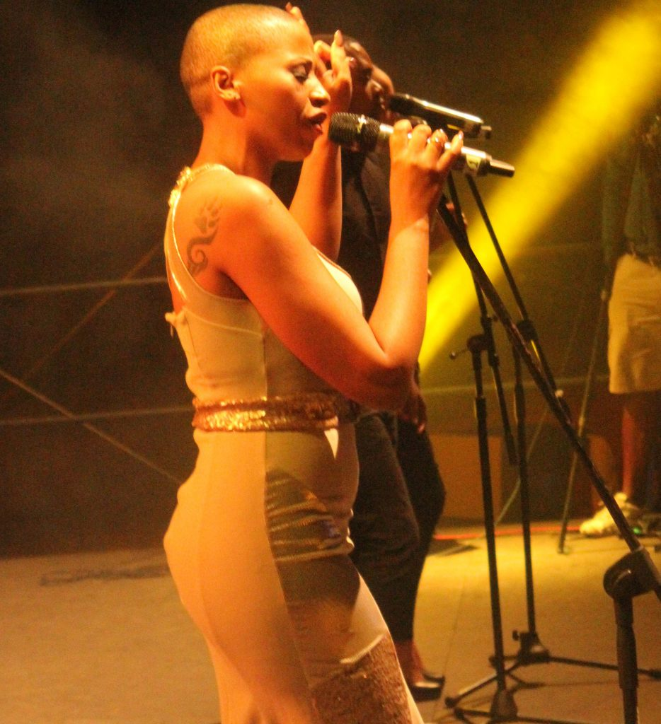 South African Afro Jazz singer Zonke wooed the crowd during her performance at LETOFE 2015 edition in Thaba Bosiu on Saturday