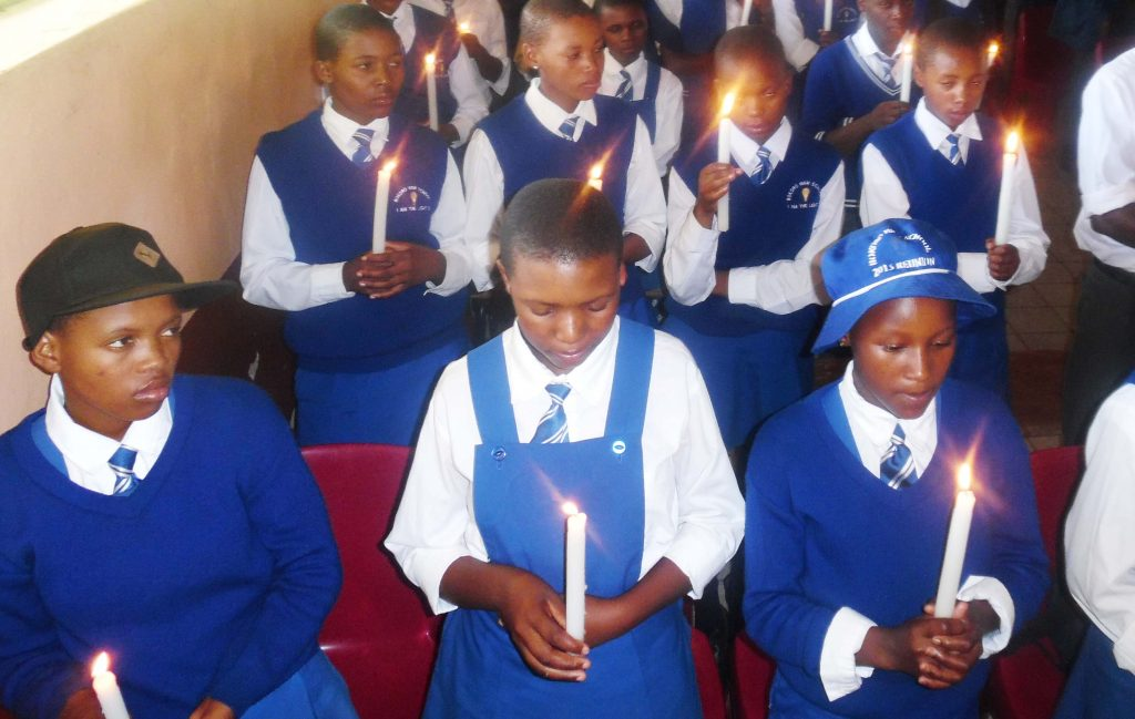 Different school girls in Leribe and Butha-Buthe attend the Girl4ce Movement gatherings intended to empower them with skills to stand up for themselves and be heard