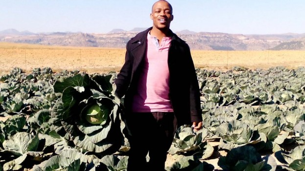 Youthful farmer shows the way