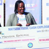 Econet hands over M150k prize to lucky customer