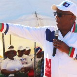 BNP leader Chief Thesele 'Maseribane addressing supporters in Khubetsoana Lecop (Part 1)