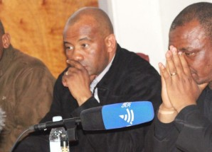 Press Conference of outgoing Lesotho government Deputy leader Mothetjoa Metsing