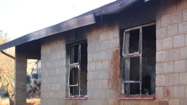 Exiled soldier's home burnt down