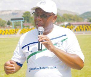 Sports Minister, Thesele 'Maseribane