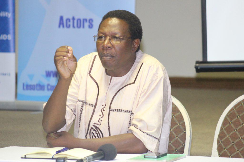 NUL vice chancellor, Professor Nqosa Mahao