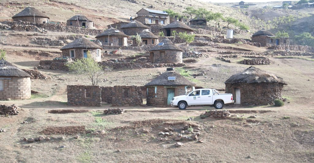 Ha 'Meta Village after the Rural Solar Electrification Pilot Project championed by LHDA