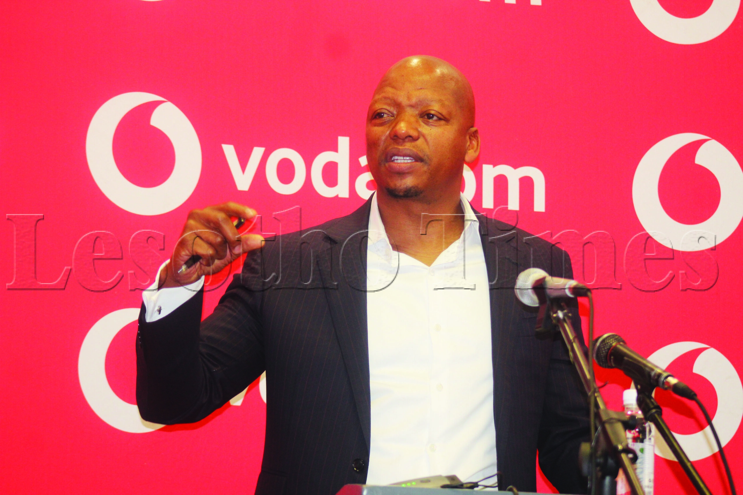 Vodacom managing director Mohale Ralebitso at the monday press conference 5 scaled